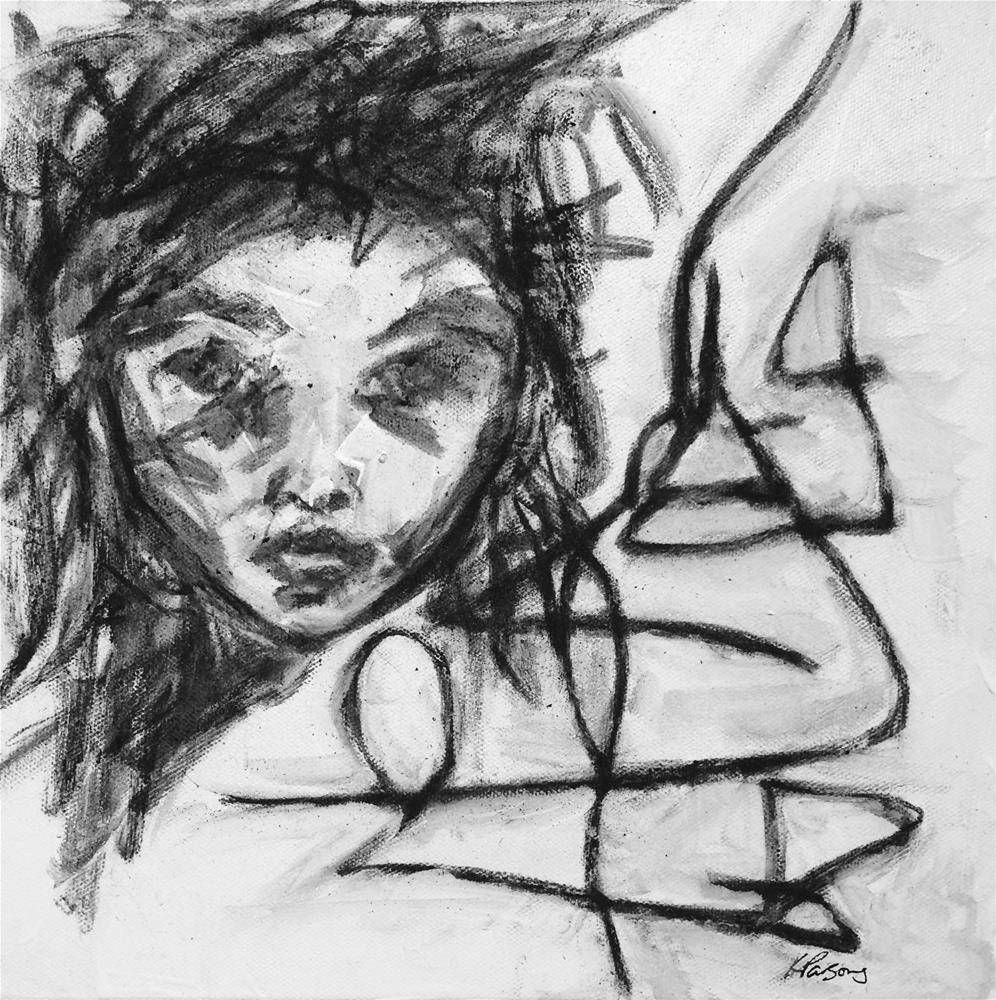 """Be a Warrior"" original fine art by Kali Parsons"