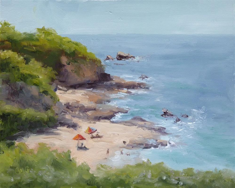 """First on the Beach"" original fine art by Cindy Greene"
