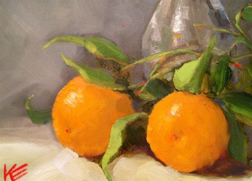 """Oranges"" original fine art by Krista Eaton"