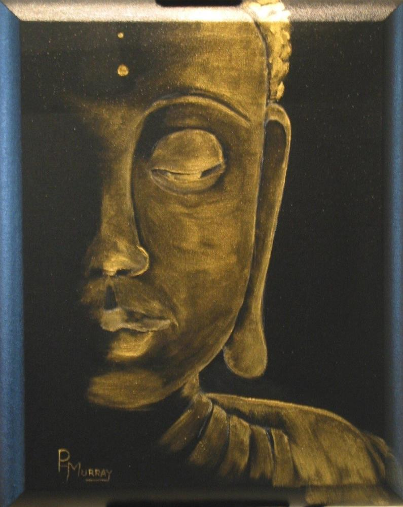 """Golden Buddha"" original fine art by Patricia Murray"