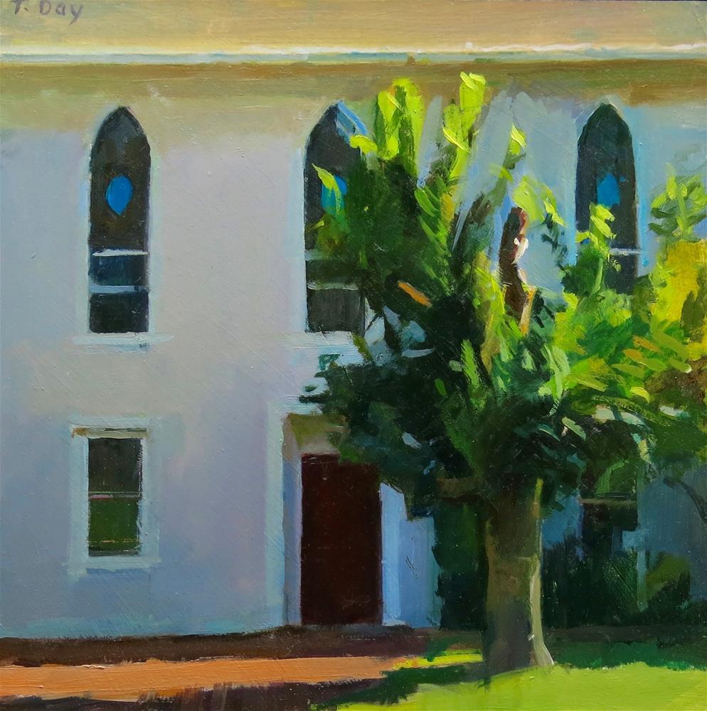 """""""Churchyard Tree"""" original fine art by Taryn Day"""