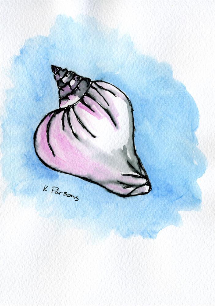 """Pink Shell"" original fine art by Kali Parsons"