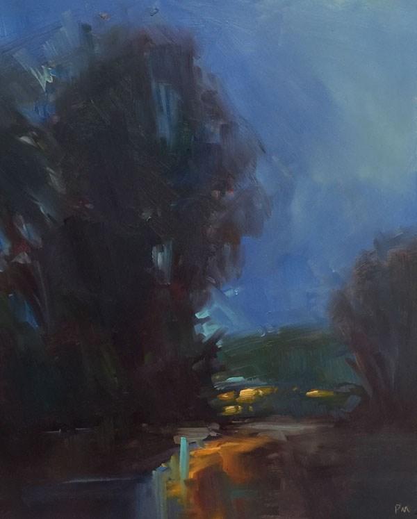 """Night Light"" original fine art by Patti McNutt"