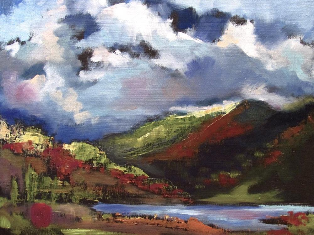 """""""Chasing the Valley"""" original fine art by Aurelio Saiz"""