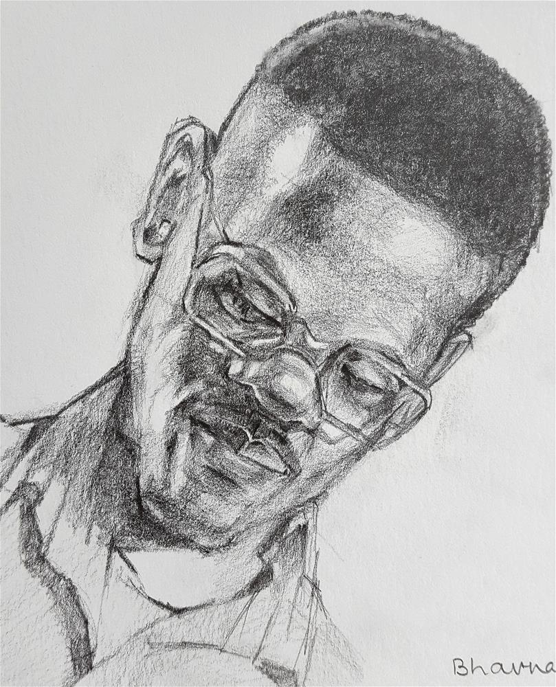 """Steve - Pencil Portrait"" original fine art by Bhavna Misra"