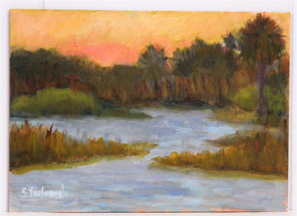"""""""Serenity at Babcock Ranch"""" original fine art by Sharon Yarbrough"""