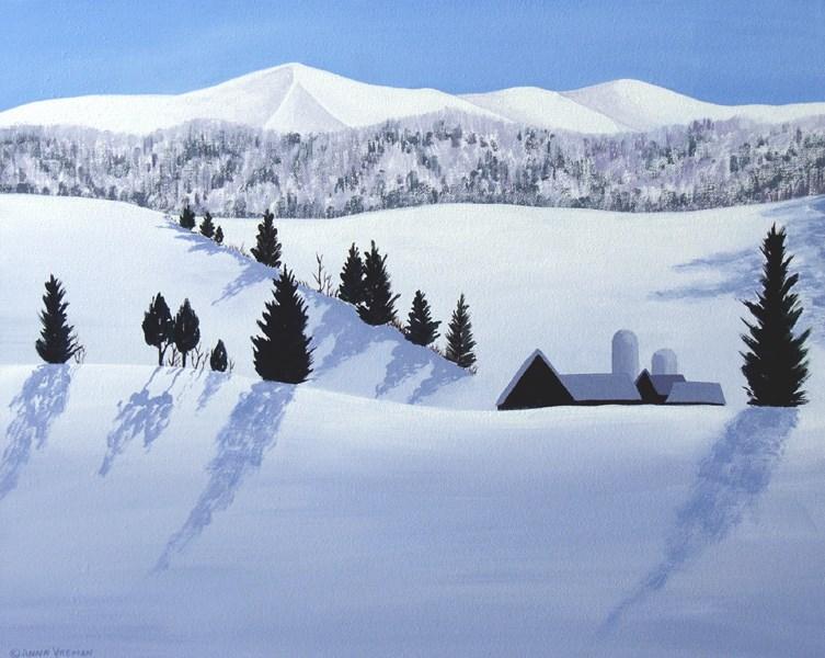 """""""Snowbound Farm"""" original fine art by Anna Vreman"""