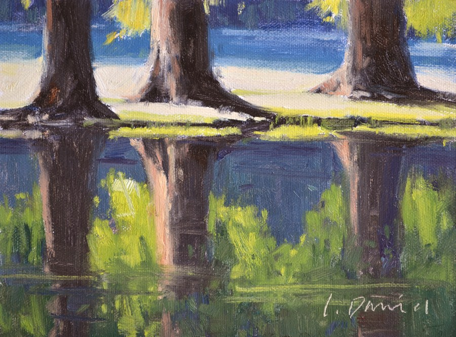 """Sun-washed Reflections"" original fine art by Laurel Daniel"