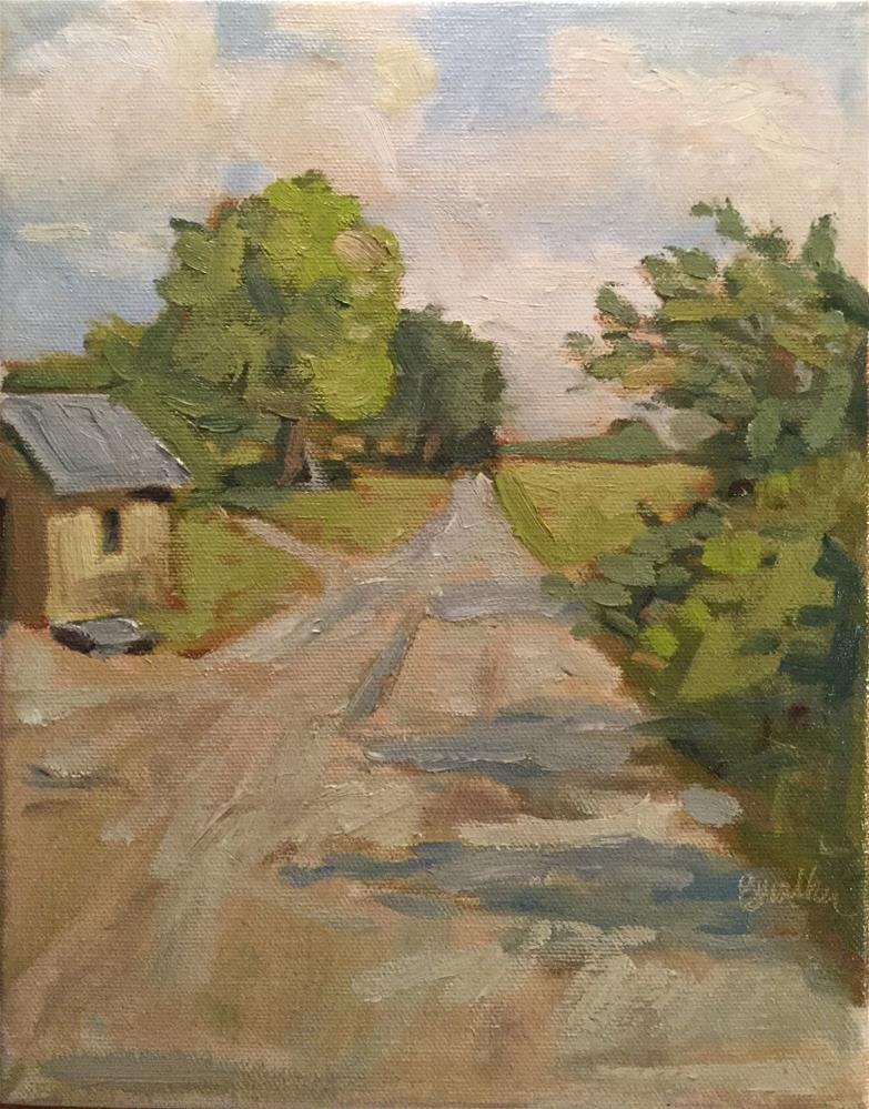 """Walking Lane"" original fine art by Barb Walker"