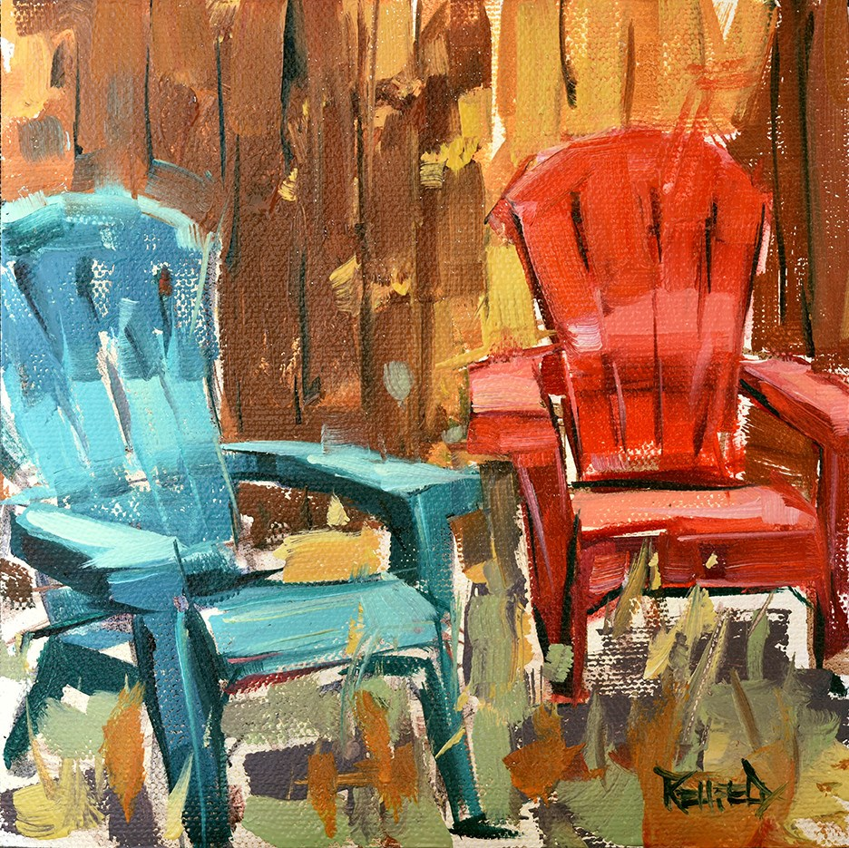 """Friends"" original fine art by Cathleen Rehfeld"