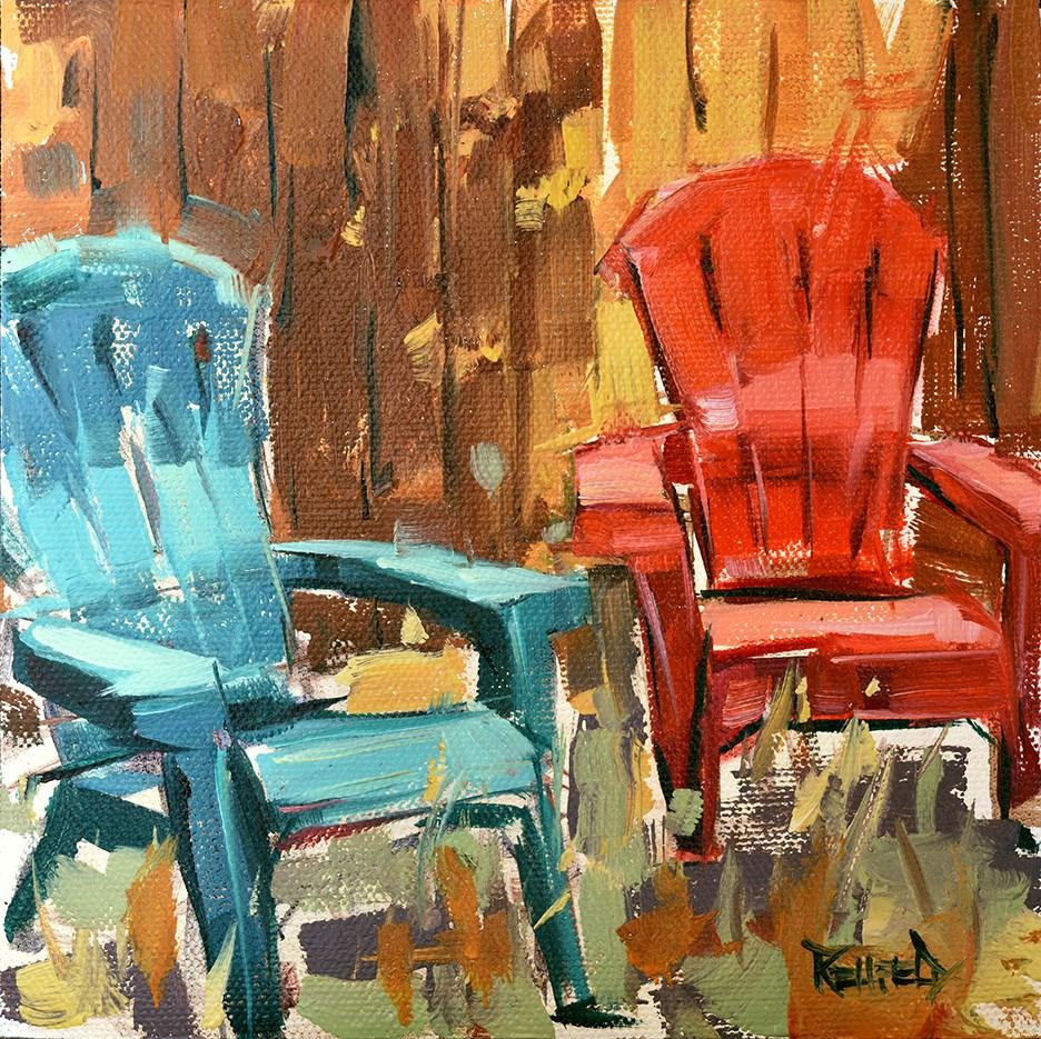 """Friends"" original fine art by Cathleen Rehfeld"