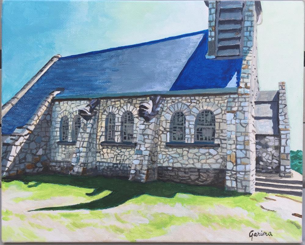 """""""La Chapelle Notre-Dame de la Garde"""" original fine art by Garima Heath"""