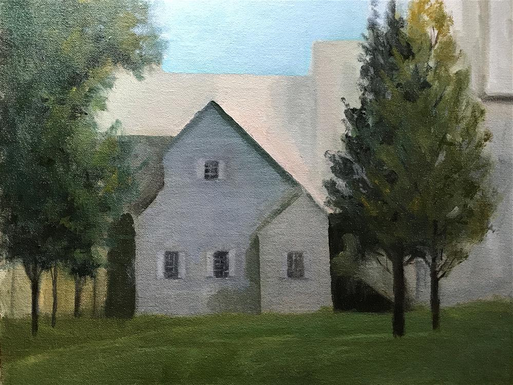 """Southern Vermont Art Center Building"" original fine art by Betty Argiros"