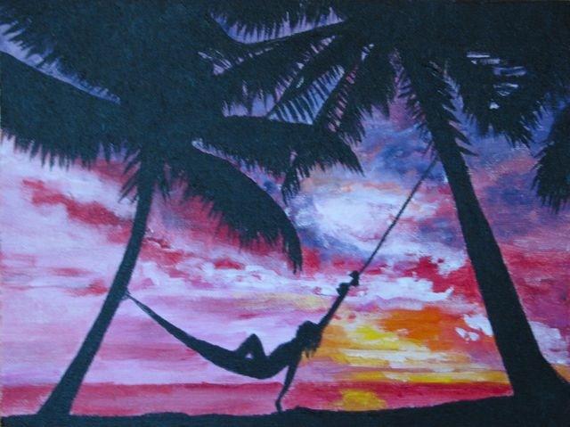 """Relaxation"" original fine art by Nan Johnson"