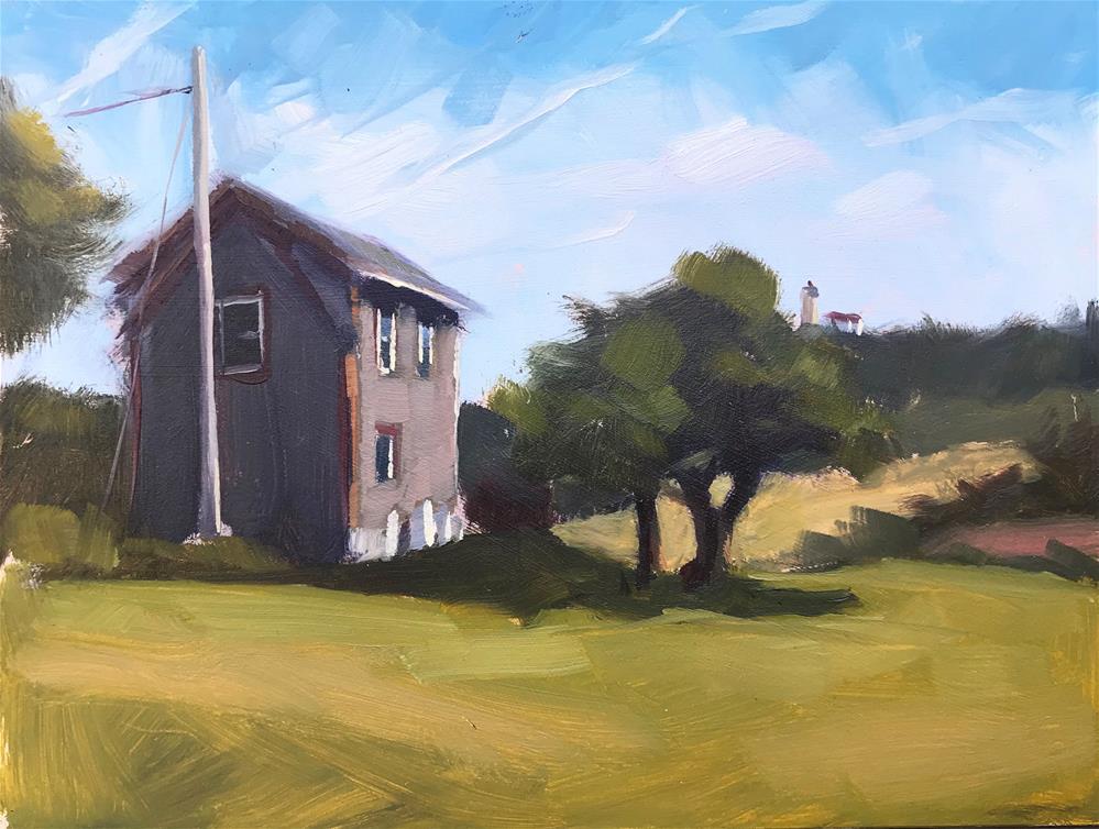 """""""Monhegan Field"""" original fine art by Sharon Schock"""
