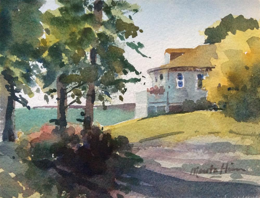 """Jamie Wyeth's House"" original fine art by Marita Hines"