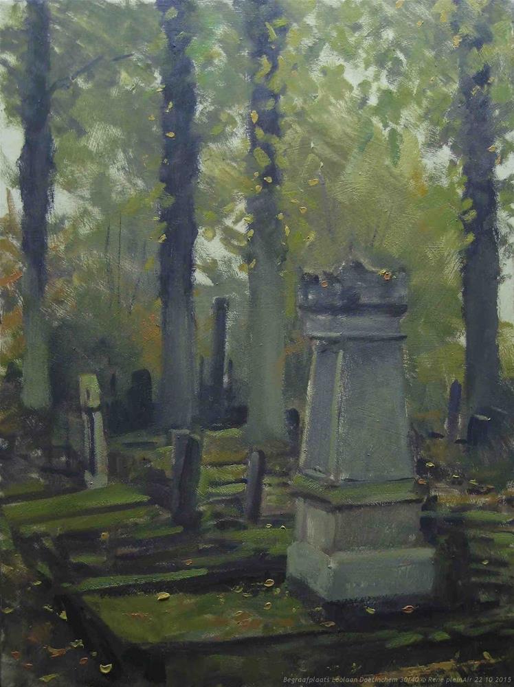 """Cemetery Loolaan. Doetinchem, The Netherlands"" original fine art by René PleinAir"