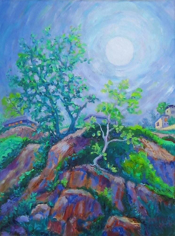 """""""Early Moon"""" original fine art by Patricia Musgrave"""