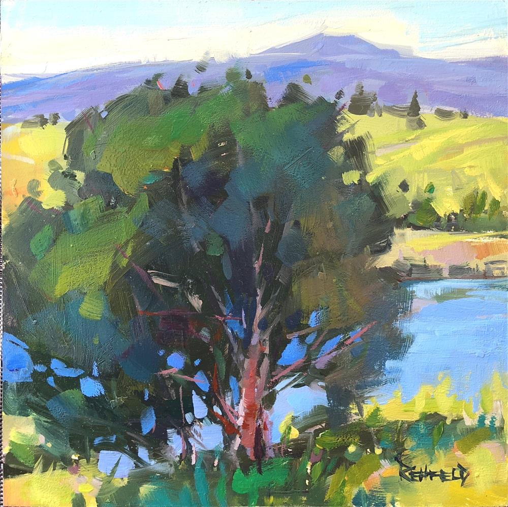 """Yvonne's Pond"" original fine art by Cathleen Rehfeld"