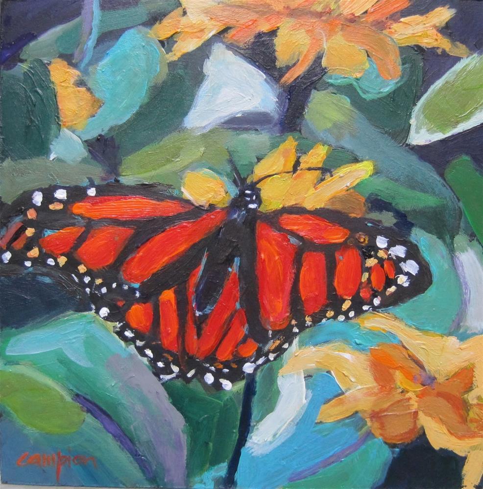 """158 Monarch"" original fine art by Diane Campion"