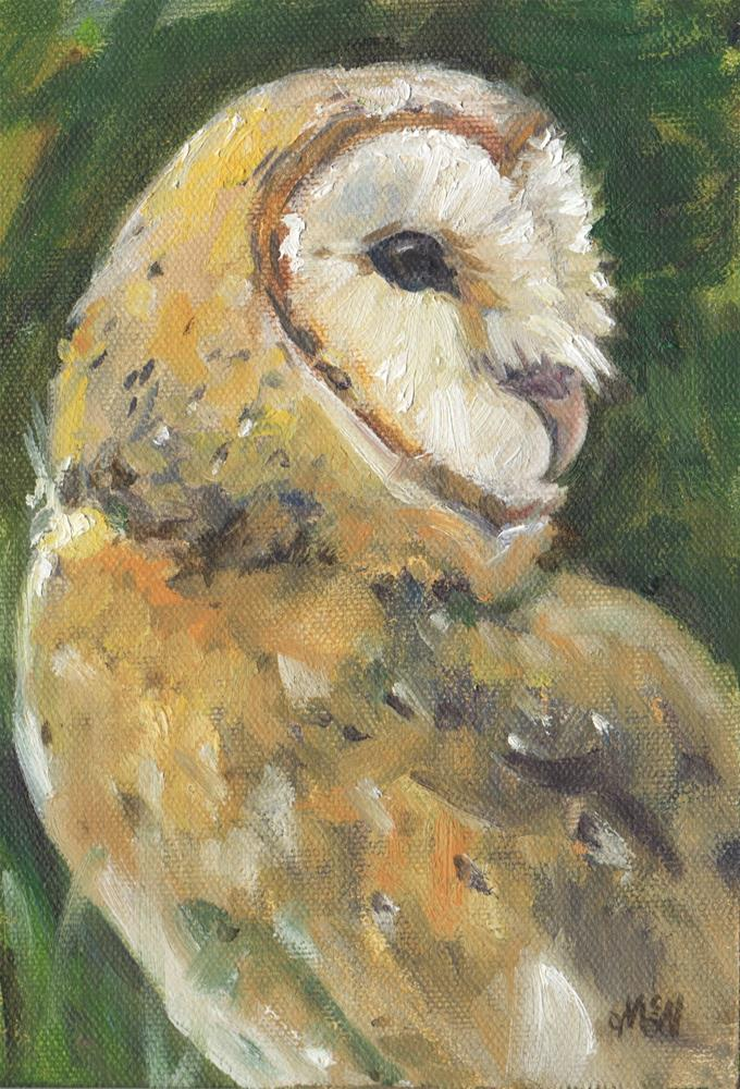 """Barn Owl"" original fine art by Michel McNinch"