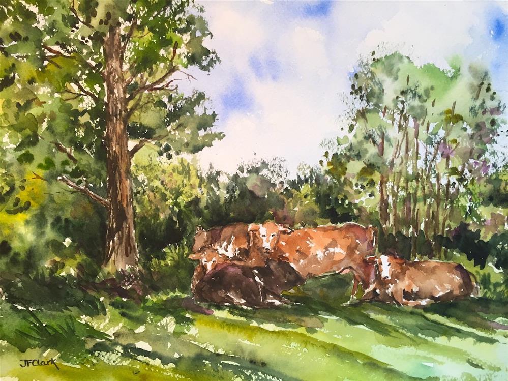 """Hot Day in August"" original fine art by Judith Freeman Clark"