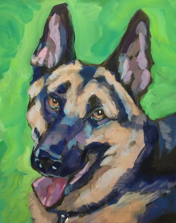 """Duke"" original fine art by Kat Corrigan"