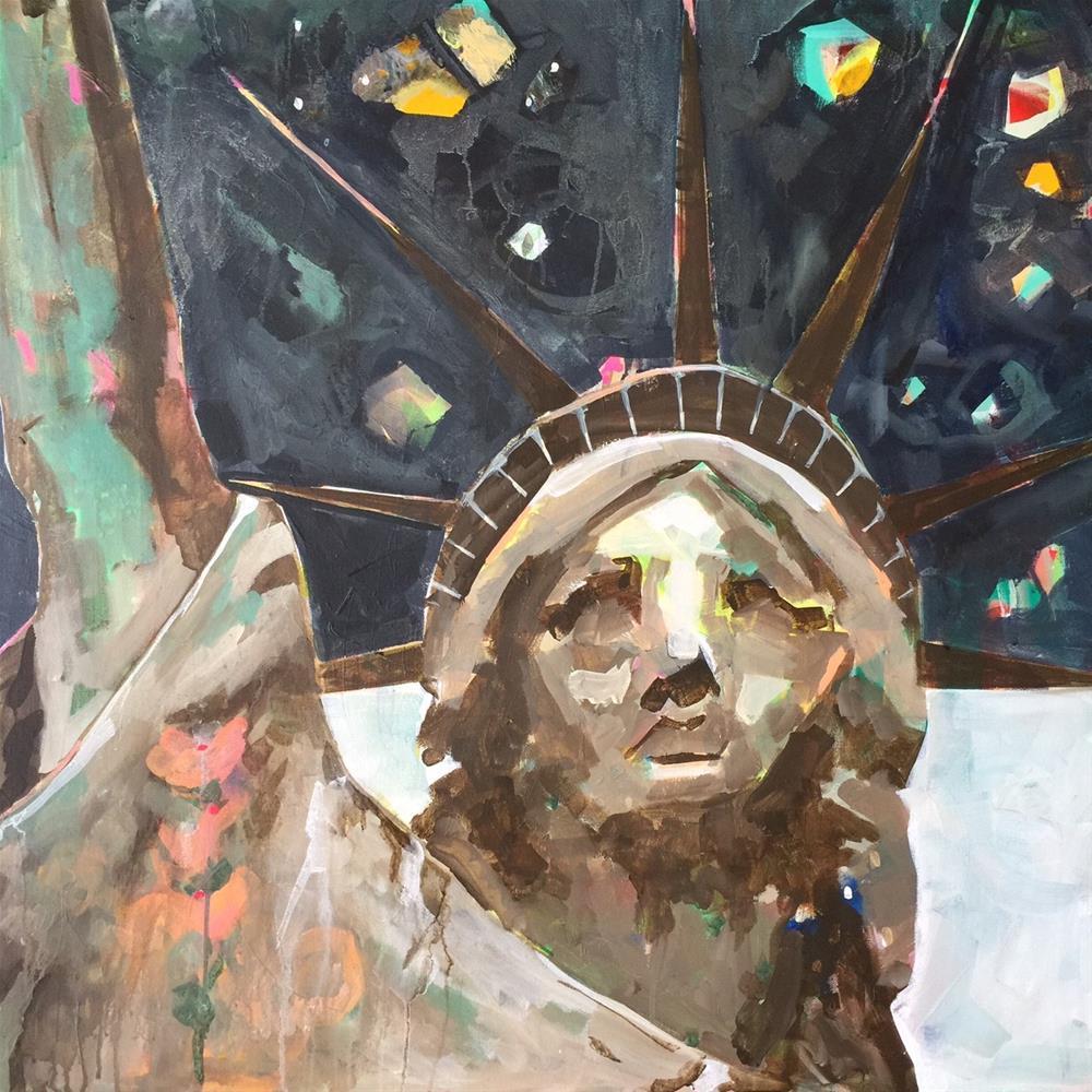 """627 Free at last"" original fine art by Jenny Doh"