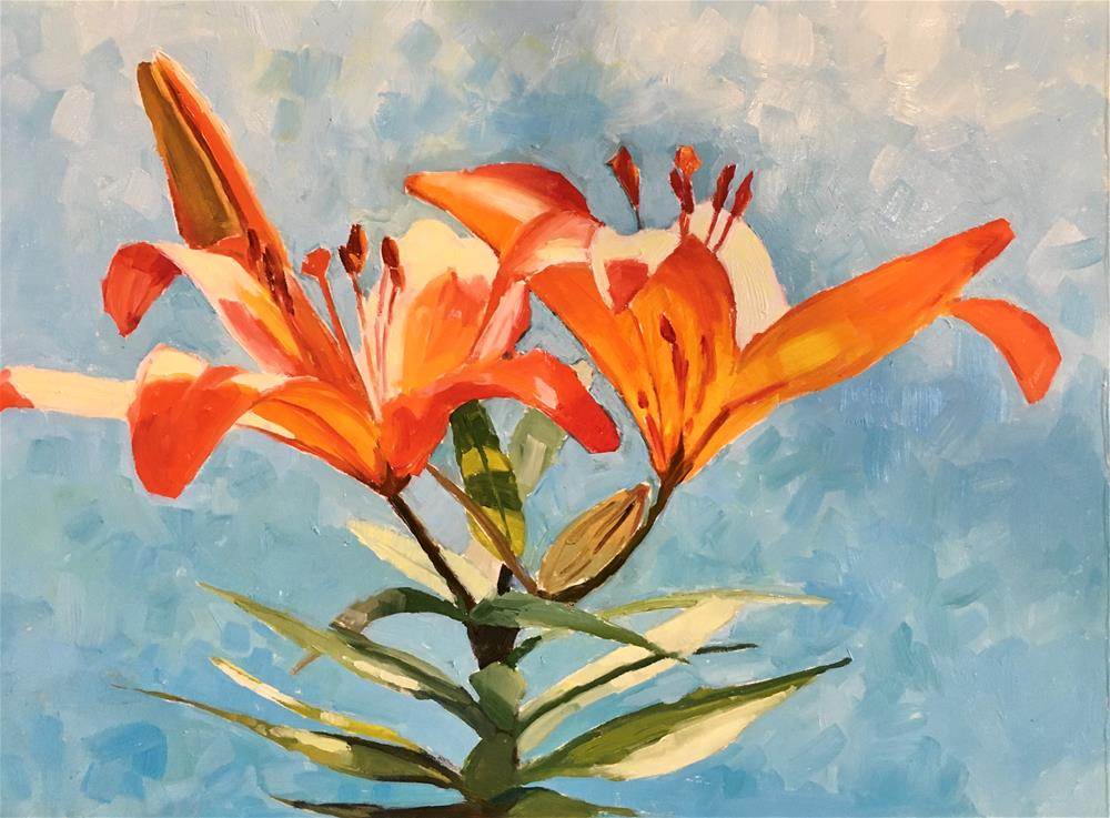 """L is for Lillies"" original fine art by Carol Granger"