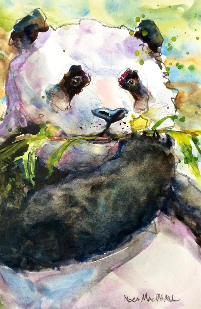 """on a bamboo break"" original fine art by Nora MacPhail"