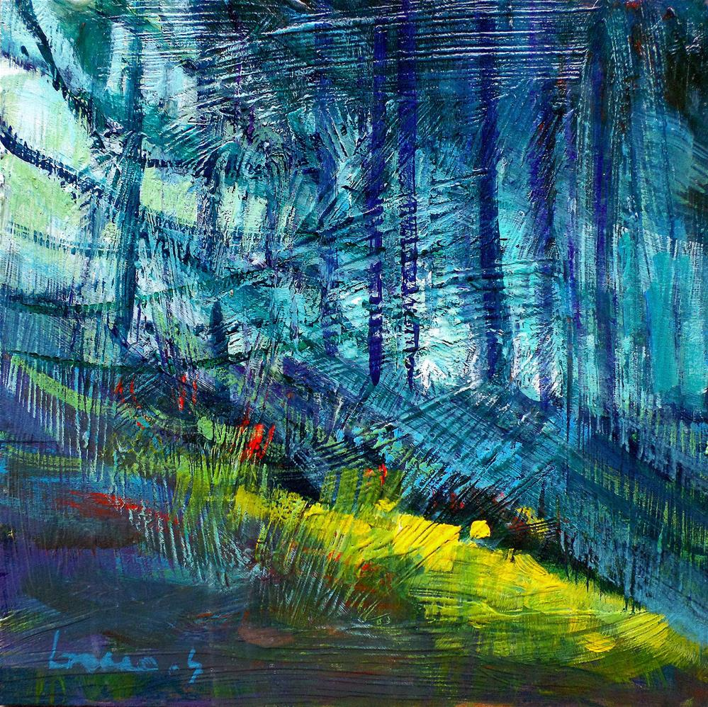 """Light in forest"" original fine art by salvatore greco"