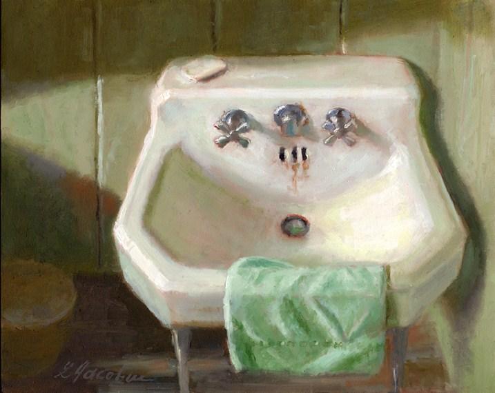 """VINTAGE SINK"" original fine art by Linda Jacobus"