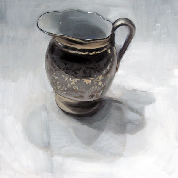 """""""Cream Pitcher with Gold Leaves (no.49)"""" original fine art by Michael William"""