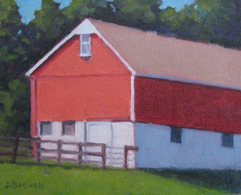 """Red Barn in Pennsylvania"" original fine art by Jennifer Boswell"
