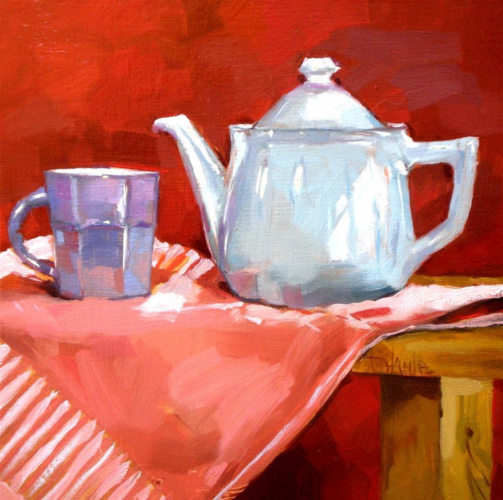 """Tea for one"" original fine art by Víctor Tristante"