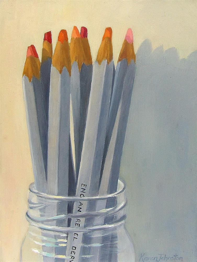 """Bottled Pencils"" original fine art by Karen Johnston"