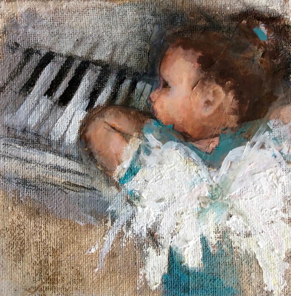 """Angel Baby"" original fine art by Marcia Hodges"