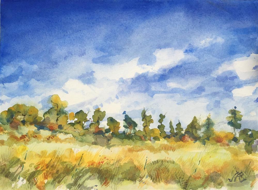"""Pasture om Kettle Lane"" original fine art by Jean Krueger"