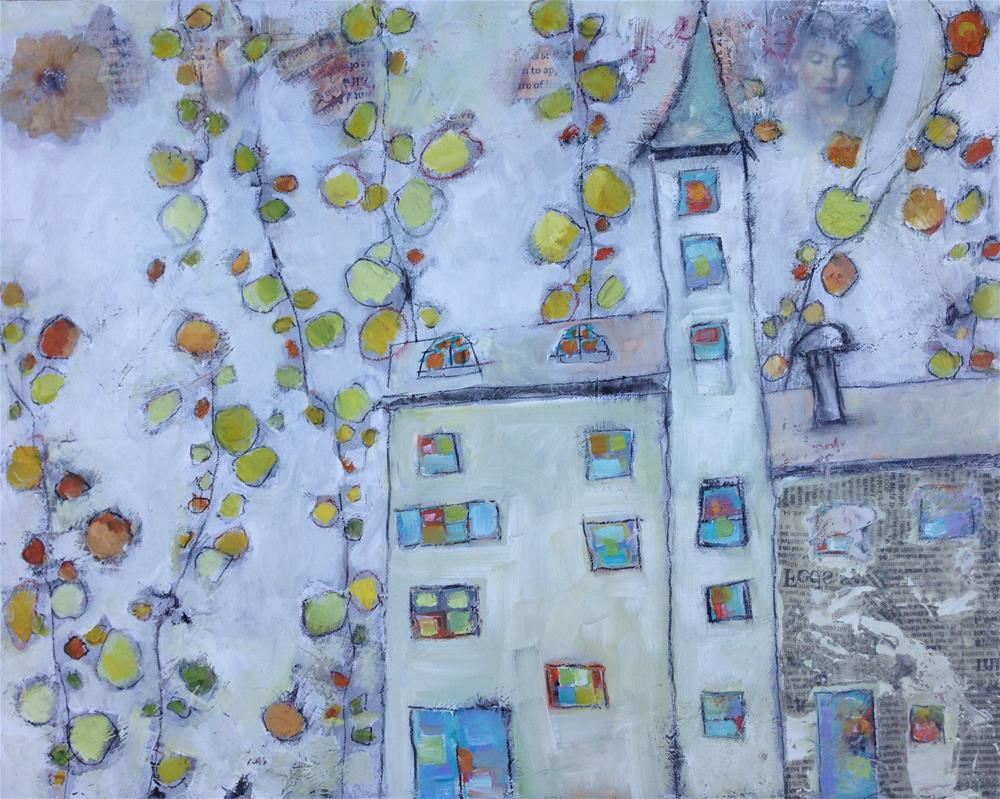 """""""The House in the Trees"""" original fine art by Anne Ducrot"""