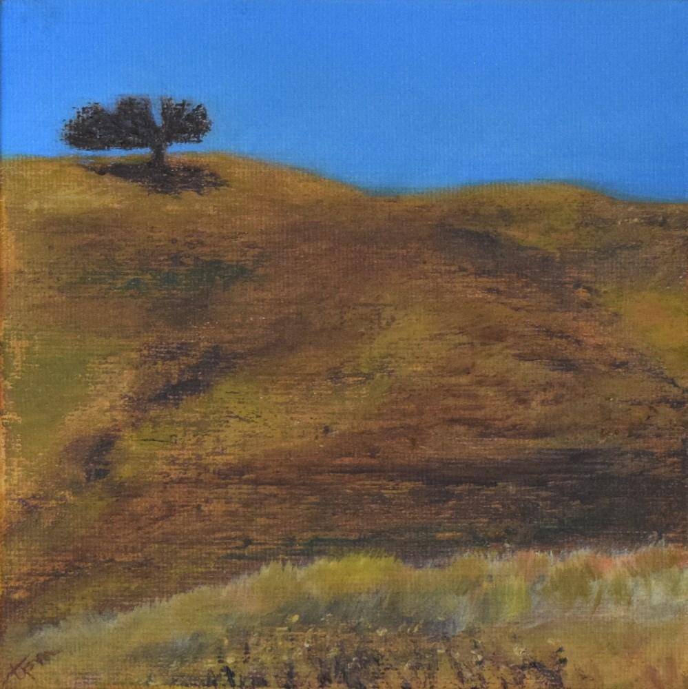 """""""Crockett Hills, One Tree, Fall Study"""" original fine art by Tisha Mark"""
