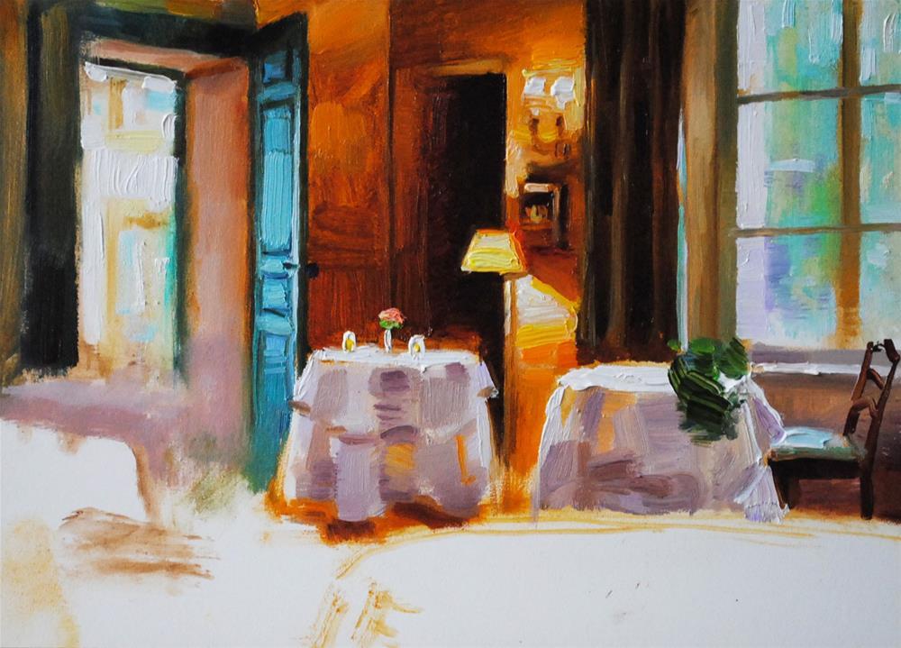 """Unfinished Room"" original fine art by Elena Katsyura"