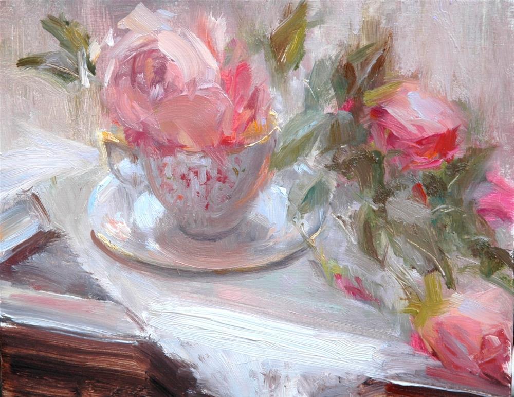 """Afternoon Tea"" original fine art by Johanna Spinks"