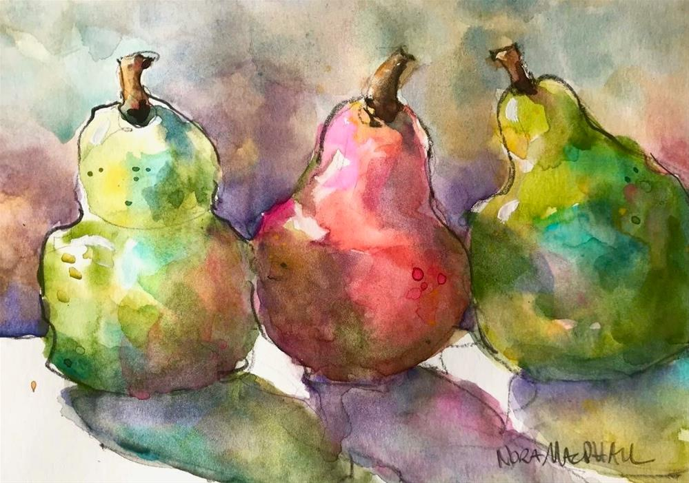 """pear pals"" original fine art by Nora MacPhail"