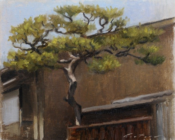 """""""Tree in Kamishichiken"""" original fine art by Phil Couture"""