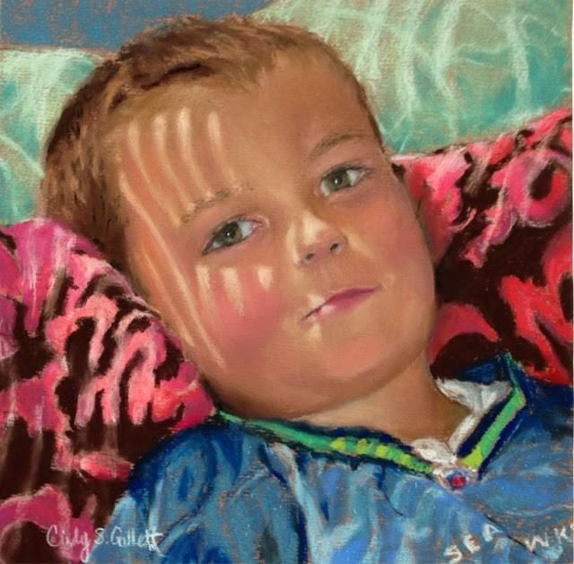 """""""The Smirk!"""" original fine art by Cindy Gillett"""