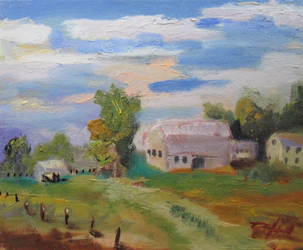 """Farm Land"" original fine art by Delilah Smith"