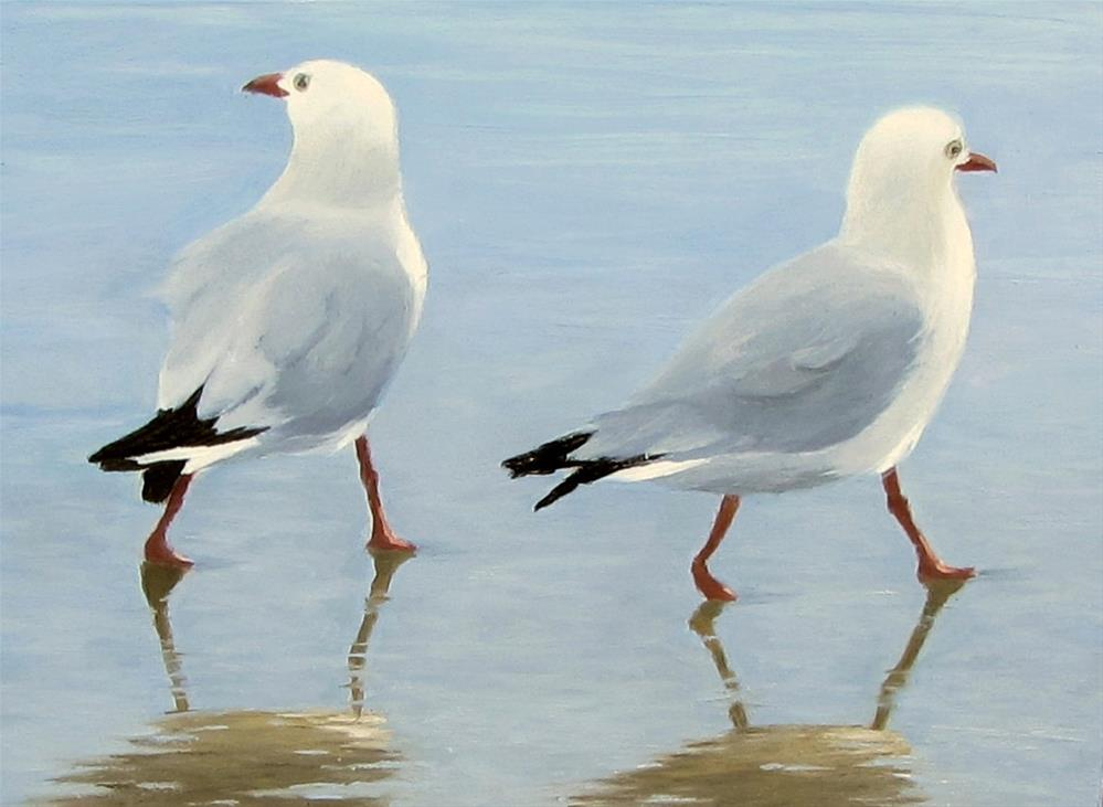 """Beach Boys"" original fine art by Karen Johnston"