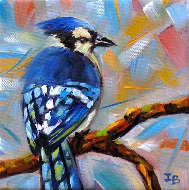 """Think blue!"" original fine art by Irina Beskina"