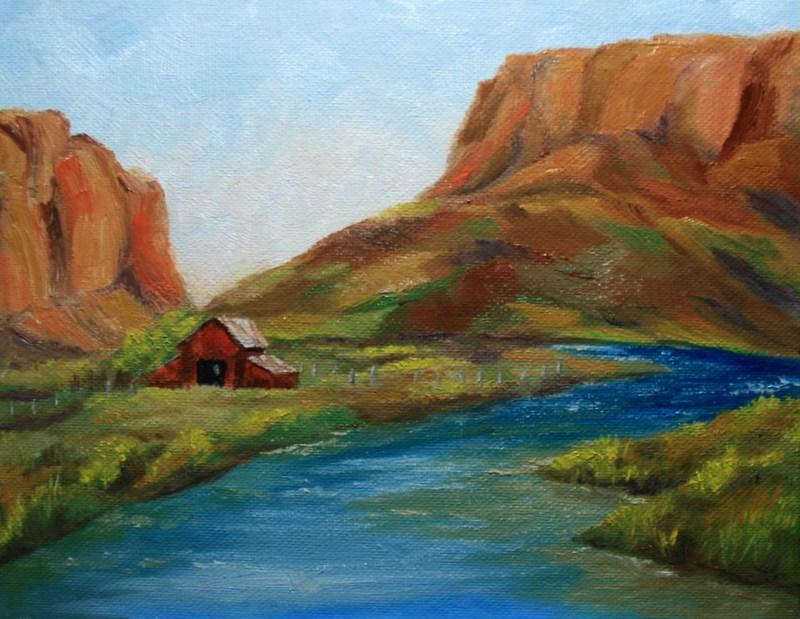 """Canyonland Ranch"" original fine art by Jean Nelson"