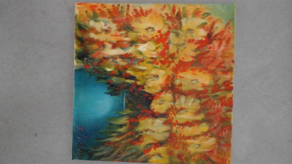 """""""Black Eyed Susans"""" original fine art by Sue Lorenz"""